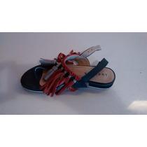 Sandalias De Cuero Con Flecos Bordados