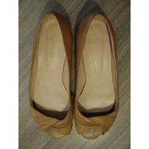 Zapatos Sybil Vane - Punta Abierta - Color Miel - Nro.37