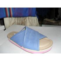 Sandalias De Cuero Mujer Tipo Ojota