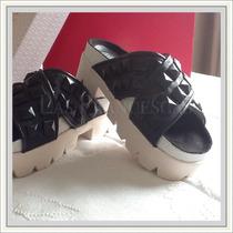 Zapatos Oferta Sandalias De Cuero Con Tachas Verano 2015