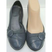 Moleca Zapatos 36 Charol Color Gris (ana.mar)