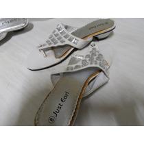 Sandalias Blancas Con Piedras Espejos