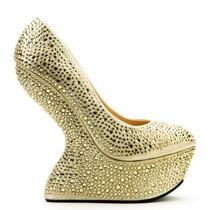 Zapatos Sandalias Plataforma Strass Importadas Europa