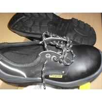 Zapato De Seguridad Pampero Modelo Clásico. Punta De Acero.