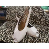 Zapatos Boquita De Pez Blancos N°40 Hush Puppiesefectivo
