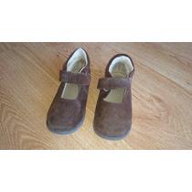 Zapatos Marcel Colegiales De Niña De Gamuza Marron Talle 25