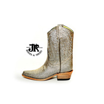 Botas Texanas - Jr Boots & Shoes - Art. 6041 Reptil Plata