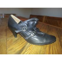 Zapatos Tango / Baile Cuero Negro Mujer 35 O 36 Oferte