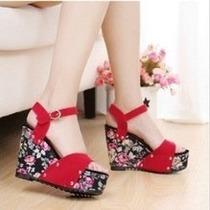 Zapato Mujer Taco Chino Importado Oferta Sandalia Verano