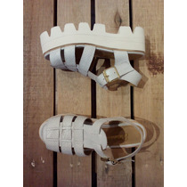 Zapatos Mujer Panchas Sandalias Plataformas Cuero Paradisea