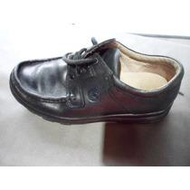 Zapatos Colegiales En Cuero Legitimo Red Horn Acordonado