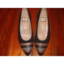 Zapatos Cerrados De Cuero Mujer Toscano Nº 35