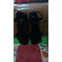Sandalias Negras Vía Uno