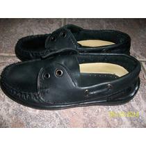 Zapatos Nauticos De Cuero Talle 30
