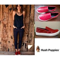 Zapatos Cuero Imitación Reptil Better Rojos Hush Puppies