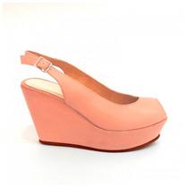 Clippate Zapatos Sandalias Plataformas Boca Pez Cuero Mujer