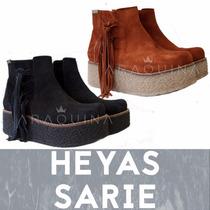 Botas Heyas Sarie Gamuza Flecos | Zapatos De Dama | Araquina