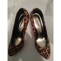 Zapatos Elegantes Animal Print Nro39 Usado Como Nuevo
