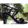 Zapatos/sandalias De Vestir Negras Con Taco Talle 38
