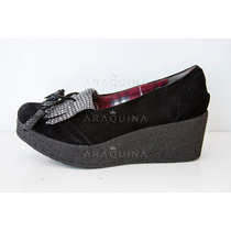 Zapatos Botinetas Heyas Alma Cuero Taco Chino Gamuza- Araqui