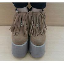 Zapatos Acordonados Con Flecos Toda La Onda 1395