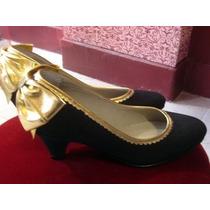 Divinos Zapatos Luz Principe T 36 Negro