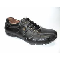 Zapatillas En Cuero Negro Franco Pasotti