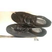 Zapatos Paruolo Cuero Gamuzado Negro 37 Plataforma Interna