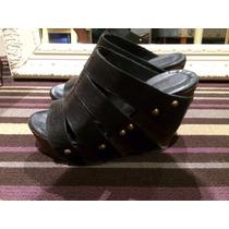 Zapatos Ricky Sarkany Con Plataforma De Madera!