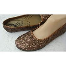 Viamo, Zapatos 39 Glitter Marron (ana.mar)