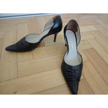 Zapatos Viento & Marea Cuero Color Negro 38