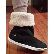 Zapatos Botas Mujer De Gamuza Con Corderito | Dama