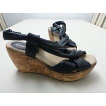 Zapatos Sandalias Cuero Negras Lucerna Talle 36 -como Nuevos