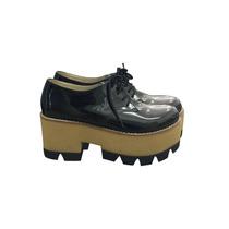 Zapatos Cerrados De Charol Con Plataforma Base Tractor