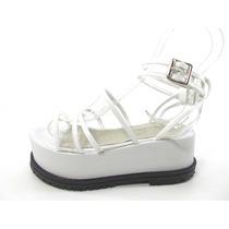 Zapatos Sandalias Mujer Natacha Cuero Plataform Magali Shoes