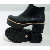 Botas Borcegos Mujer Zapatos Plataforma Tractor Inv 2014
