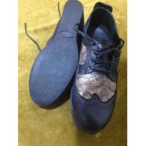 Zapatos Muy Buen Estado Taco Chino Goma Núm. 36,5 - 36