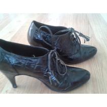 Zapatos Finos De Cocodrilo Negro Febo Excelente Estado T 36