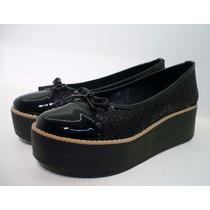 Balerinas Zapatos Plataforma Gamuzadas Invierno 2014