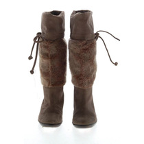 Botas Nine West Usa De Gamuza Y Piel Con Cordon Nro 40