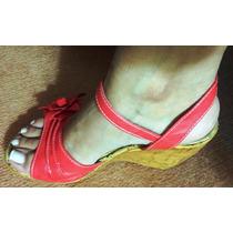 Sandalias Color Coral Nro 37