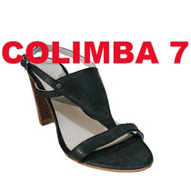 ¡¡ Blaque !! Sandalias 100% Cuero Negro Nuevas N°37 Original