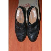 Zapatos Mocasin Usado Grimoldi Cuero Negro 40 Buen Estado!!!