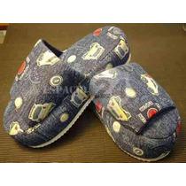 Pantuflas Para Niños Azules De Base Alta ¡¡¡nuevas!!!