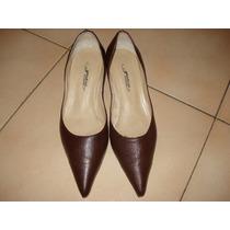 Zapato Calzado De Dama Estiletos Color Chocolate Nº37