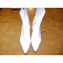 Botas De Cuero Blancas