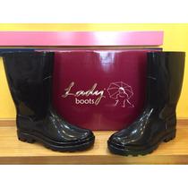 Bota De Lluvia Calfor Art. 765. Lady Boots Negra 35 Al 40