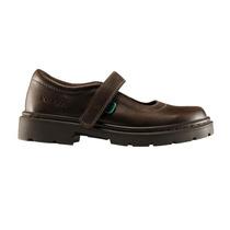 Zapatos Guillerminas Escolares Marron Velcro Kickers 27 - 37