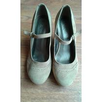 Zapatos Guillermina Forever 21 Taco Chino Gamuza