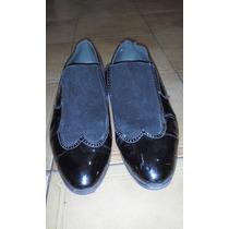 Zapatos De Charol Gamuzado De Hombre Talle 42 Hecho A Mano